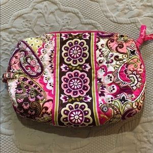 Vera Bradley Large Cosmetic in Very Berry Paisley
